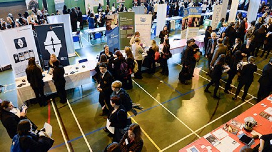 Inspiring Women 'career speed networking' and careers fair at Basildon Upper Academy, Essex, on 22 January 2104.