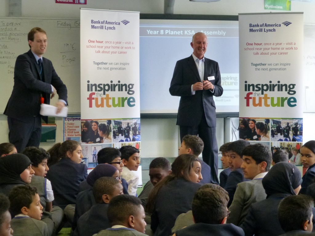 BofAML EMEA President Speaking to Young People at King Solomon Academy